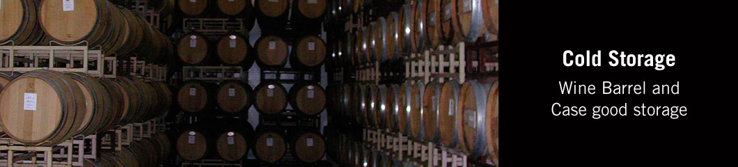 Cold Storage - Wine Barrel and Case good storage